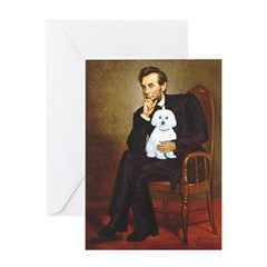 Lincoln / Maltgese (B) Greeting Card