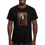 Lincoln / Maltgese (B) Men's Fitted T-Shirt (dark)