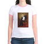 Lincoln / Maltgese (B) Jr. Ringer T-Shirt