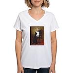 Lincoln / Maltgese (B) Women's V-Neck T-Shirt