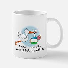 Stork Baby Uzbekistan USA Mug