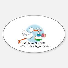 Stork Baby Uzbekistan USA Decal