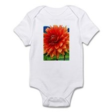 Orange Dalia Infant Bodysuit