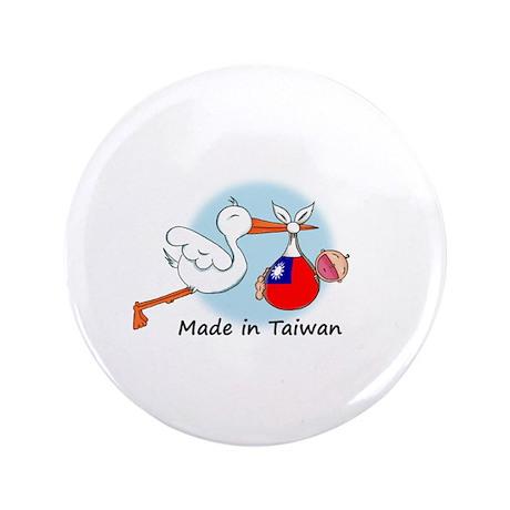 """Stork Baby Taiwan 3.5"""" Button"""