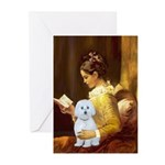 Reading / Maltese Greeting Cards (Pk of 20)