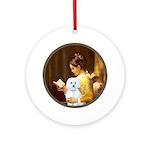 Reading / Maltese Ornament (Round)