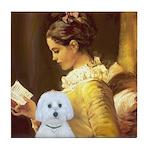 Reading / Maltese Tile Coaster