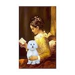 Reading / Maltese Sticker (Rectangle)