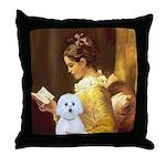 Reading / Maltese Throw Pillow