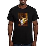 Reading / Maltese Men's Fitted T-Shirt (dark)