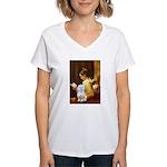Reading / Maltese Women's V-Neck T-Shirt