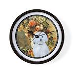 Vase / Maltese (B) Wall Clock
