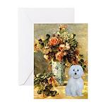Vase / Maltese (B) Greeting Card