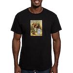 Vase / Maltese (B) Men's Fitted T-Shirt (dark)