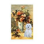 Vase / Maltese (B) Sticker (Rectangle 10 pk)