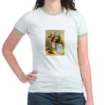 Vase / Maltese (B) Jr. Ringer T-Shirt