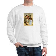 Vase / Maltese (B) Sweatshirt