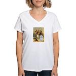Vase / Maltese (B) Women's V-Neck T-Shirt