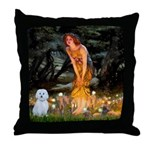 MidEve / Maltese Throw Pillow