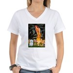 MidEve / Maltese Women's V-Neck T-Shirt