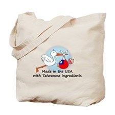 Stork Baby Taiwan USA Tote Bag