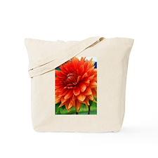 Orange Dalia Tote Bag