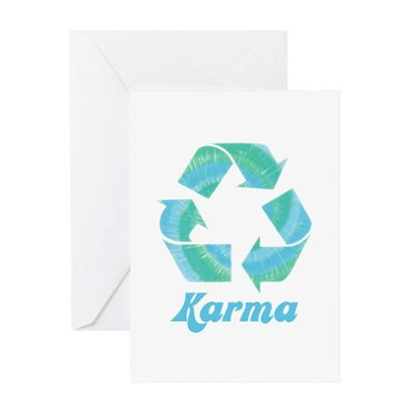 Recycle Karma Greeting Card
