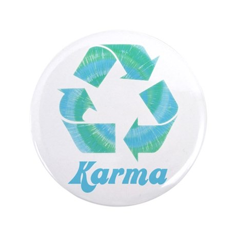 "Recycle Karma 3.5"" Button (100 pack)"