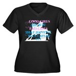 good girls Women's Plus Size V-Neck Dark T-Shirt