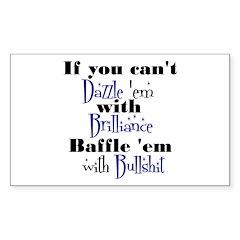 Brilliance? Sticker (Rectangle)