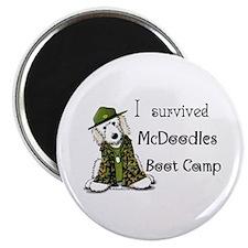 """McDoodles Boot Camp Logo 2.25"""" Magnet (100 pack)"""
