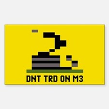 Gadsden Flag Pixel Decal