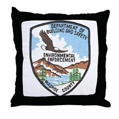 Environmental Enforcment Throw Pillow