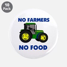 "FARMERS RULE ! - 3.5"" Button (10 pack)"