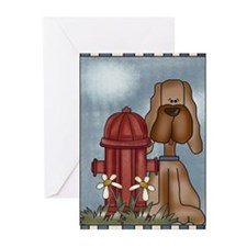Puppy & Hydrant Greeting Cards (Pk of 10)