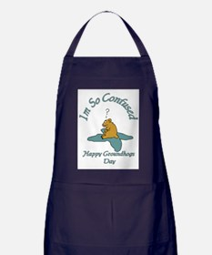 ground hogs day Apron (dark)