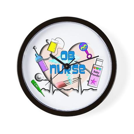 OB Nurse Wall Clock