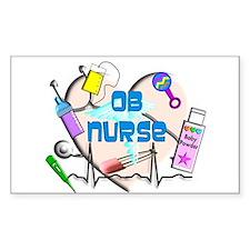 OB Nurse Decal