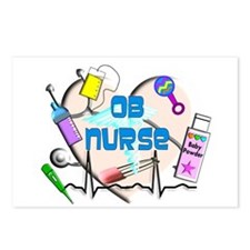 OB Nurse Postcards (Package of 8)