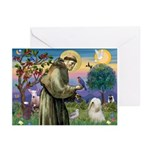 St. Francis & Tibetan Terrier Greeting Cards (Pk