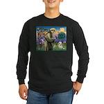 St. Francis & Tibetan Terrier Long Sleeve Dark T-