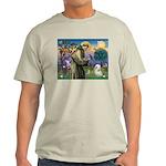 St. Francis & Tibetan Terrier Light T-Shirt