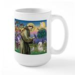 St. Francis & Tibetan Terrier Large Mug