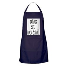 sailors sex and rock and roll Apron (dark)