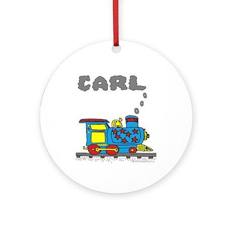 Carl Train Ornament (Round)