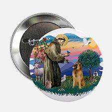 """St Francis #2/ B Tervuren 2.25"""" Button"""