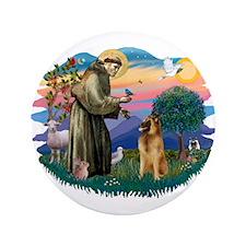 """St Francis #2/ B Tervuren 3.5"""" Button"""