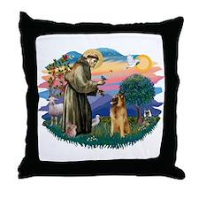 St Francis #2/ B Tervuren Throw Pillow