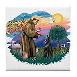 St Francis #2/ Belgian Shep Tile Coaster