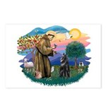 St Francis #2/ Belgian Shep Postcards (Package of